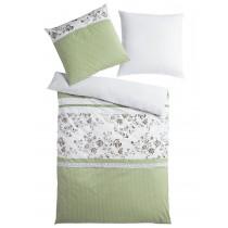 heine home Designer-Bettwäsche weiß/grün