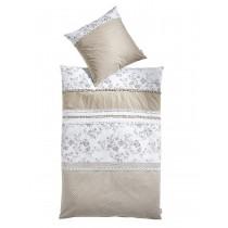 heine home - Designer-Bettwäsche weiß/beige